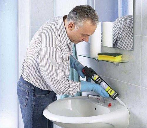 Санитарный силиконовый герметик
