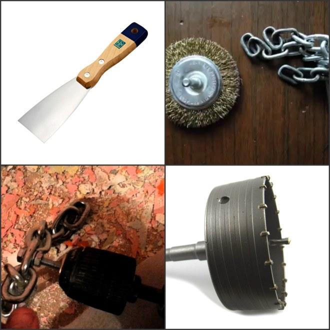 инструменты для демонтажа лакокрасочного покрытия