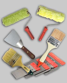 Инструменты для покраски.