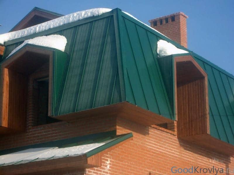 окрашенная крыша