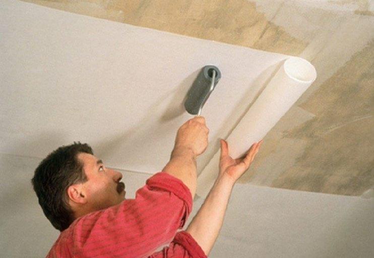 Клей Оскар позволяет наклеивать стеклохолст на потолок