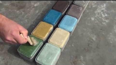 Окрашивание плитки