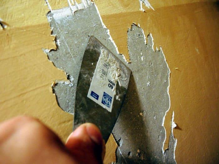 как снять с краску с бетонной стены
