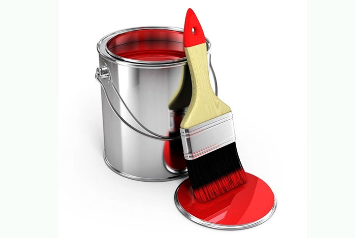 Резиновая красная краска