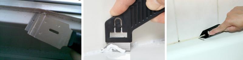 Специальный нож - скребок для удаления герметика