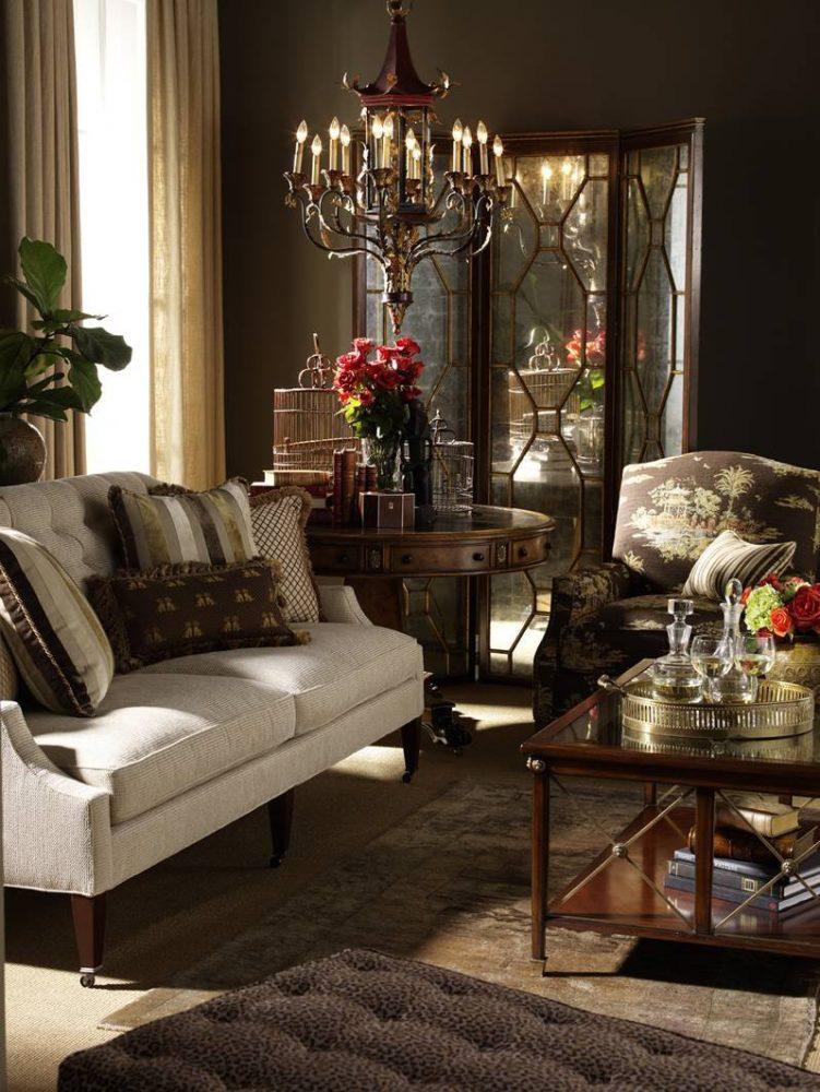 яркий декор спальни в шоколадном цвете