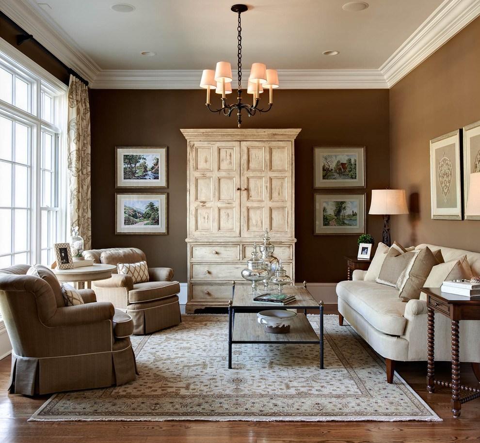 светлый интерьере квартиры в шоколадном цвете