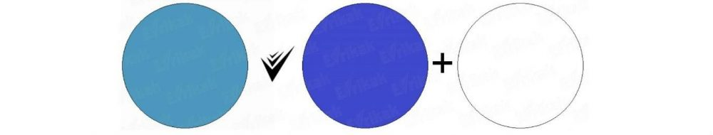 как получить пастельный синий цвет