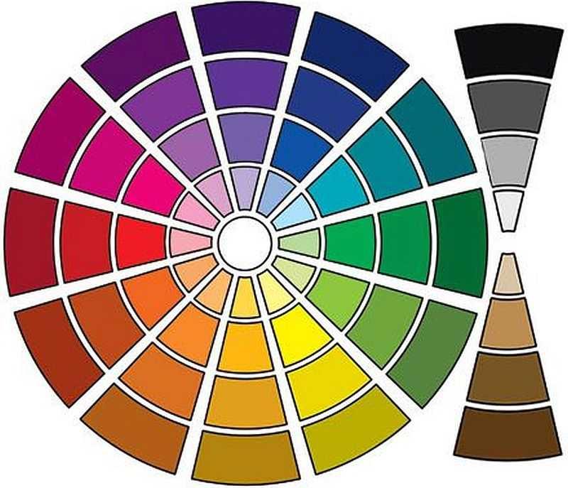 Каждый из цветов может быть более темным или более светлым
