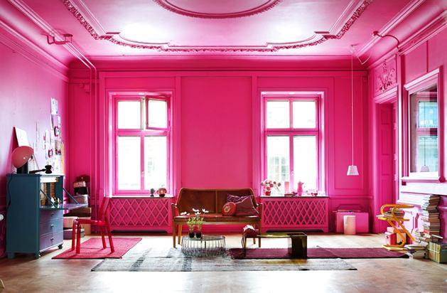 Цвет фуксия в интерьере - это взрыв цвета, бодрости, положительных эмоций