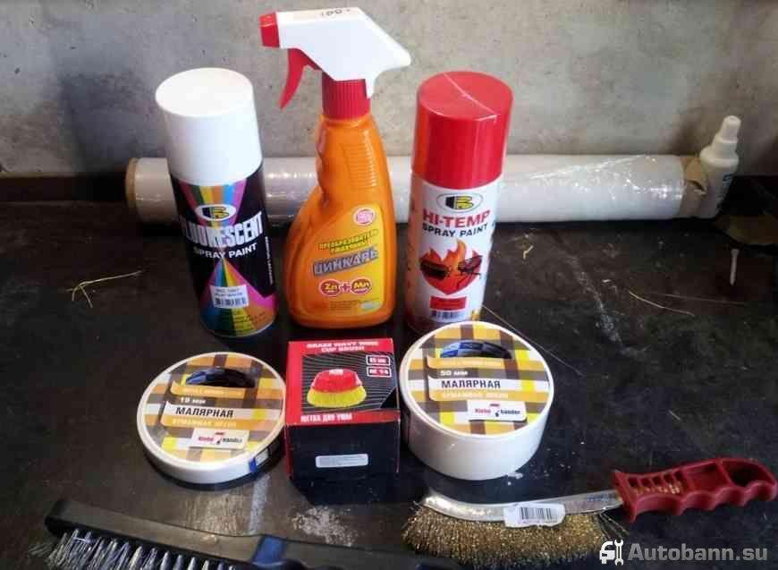 покраска тормозных суппортов