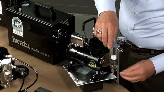 Подключение устройства Iwata Power Jet Pro IS-975
