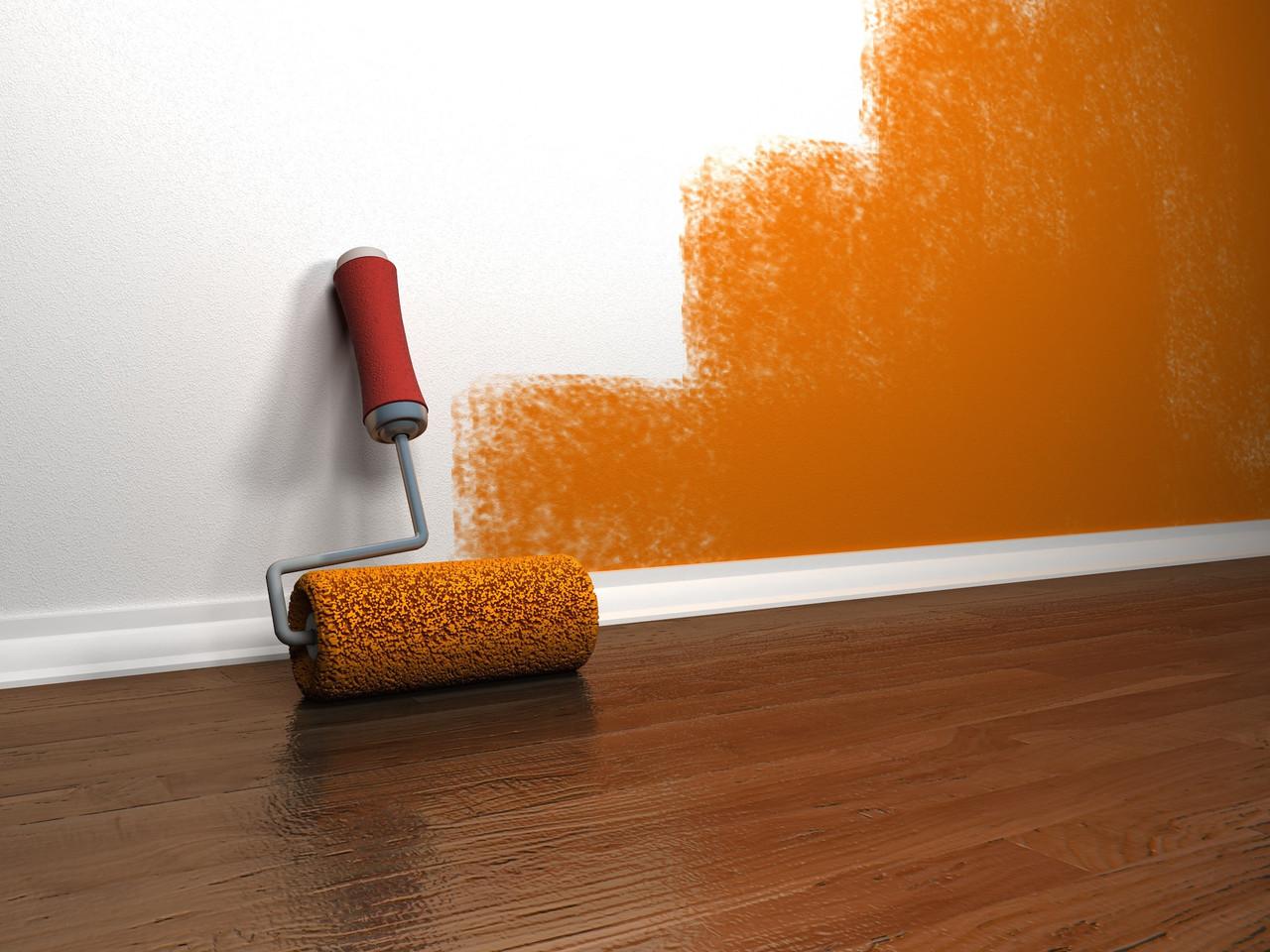идея применения водоэмульсионной краски в отделке стен дома