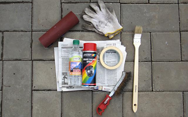 Как покрасить суппорты своими руками. Фотоинструкция - 1