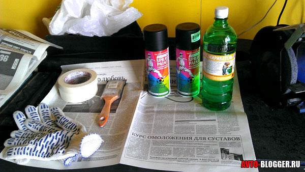 краска и растворитель