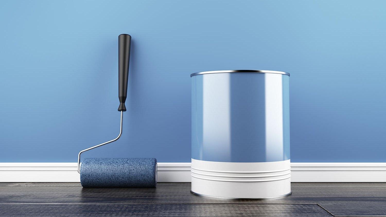 пример использования водоэмульсионной краски в ремонте стен комнаты
