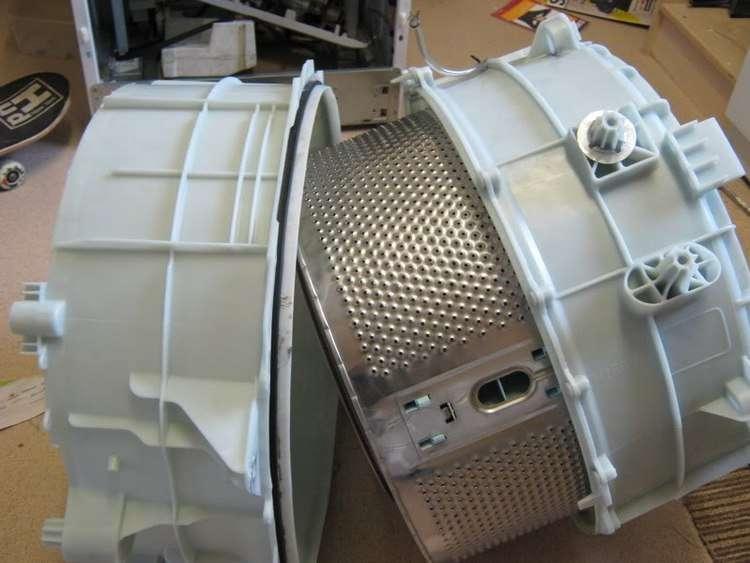 Разборный бак стиральной машины