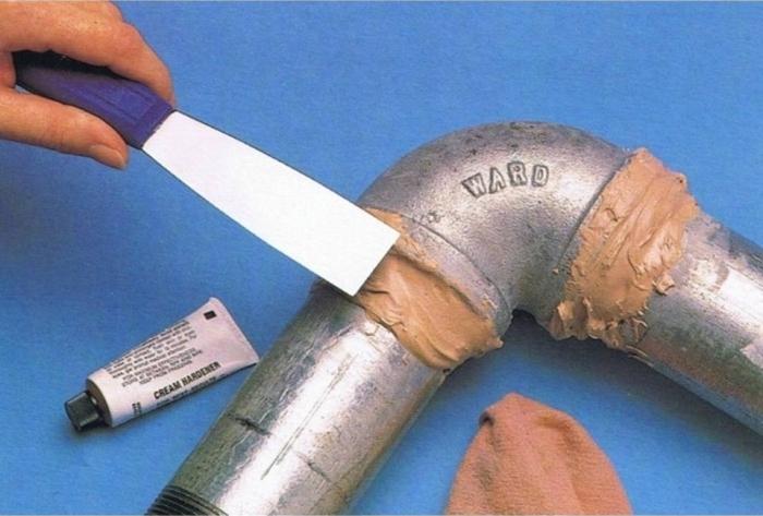Соединение труб клеевым составом