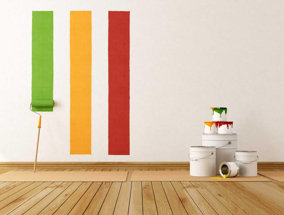 вариант использования водоэмульсионной краски в ремонте стен квартиры