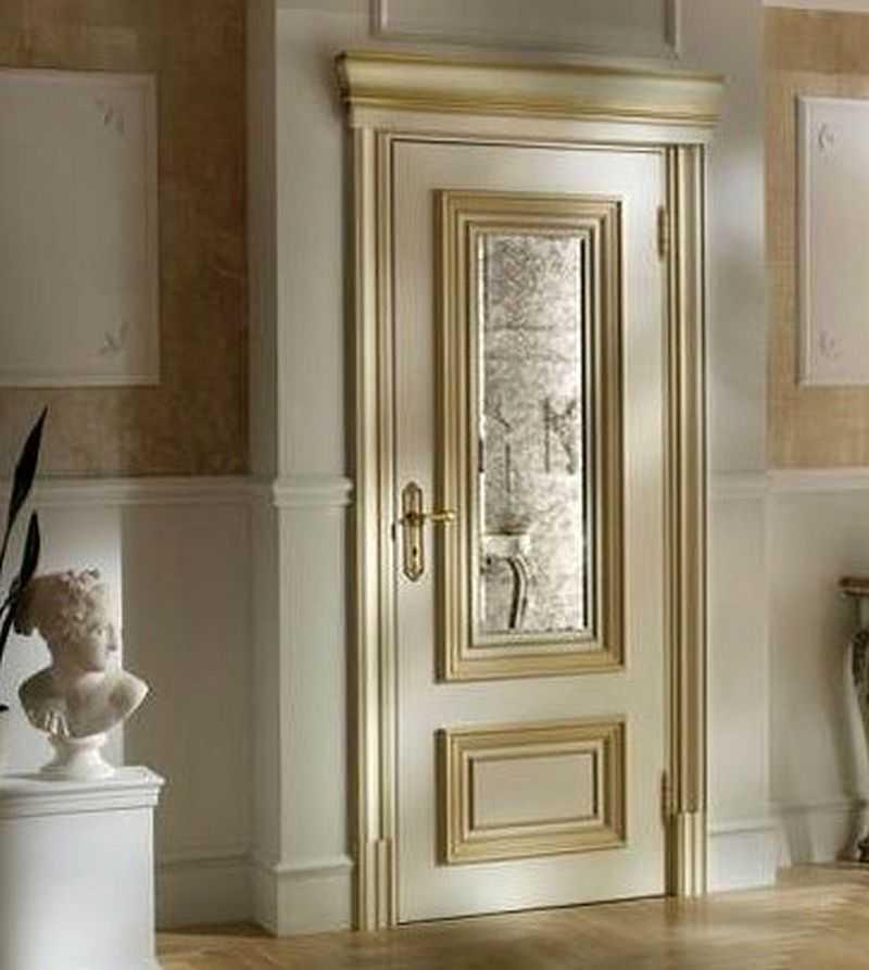 Варианты дизайна дверей в ванную комнату после обновления своими руками, пример 1