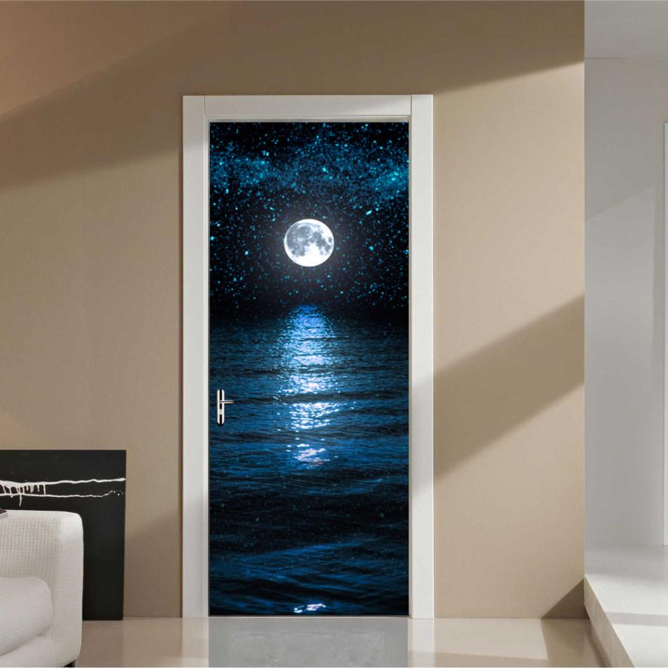 Варианты дизайна дверей в ванную комнату после обновления своими руками, пример 7