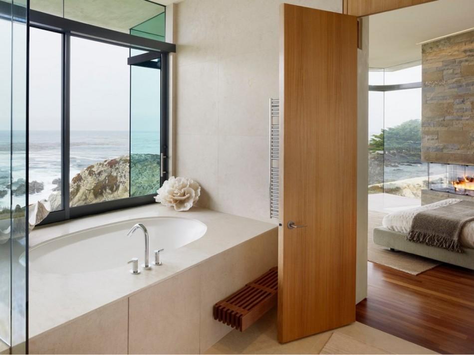 Варианты дизайна дверей в ванную комнату после обновления своими руками, пример 8
