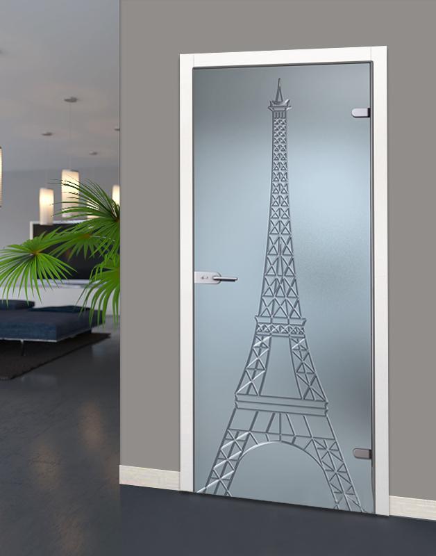 Варианты дизайна дверей в ванную комнату после обновления своими руками, пример 9