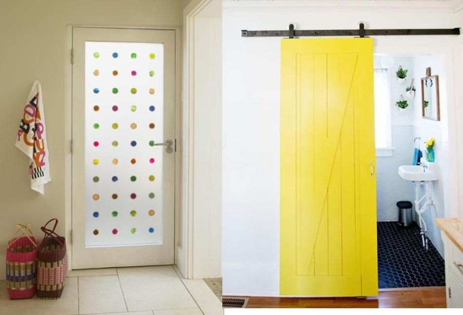 Варианты обновленных дверей в ванную комнату в интерьере