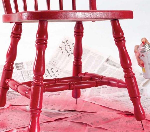 Выбор краски, подготовка и окрашивание стула (табуретки)